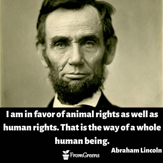 Abraham Lincoln quotes on animal rights