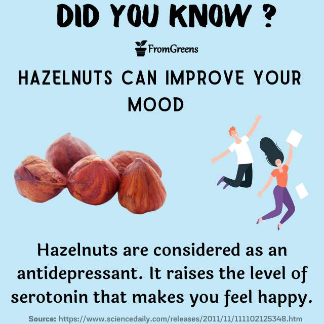 Did you know facts hazelnuts - Evidence based