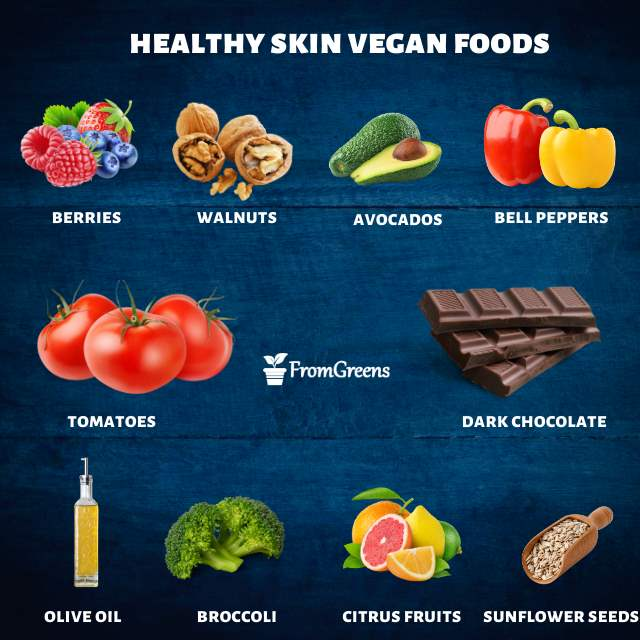 Vegan foods list for healthy skin - Evidence based