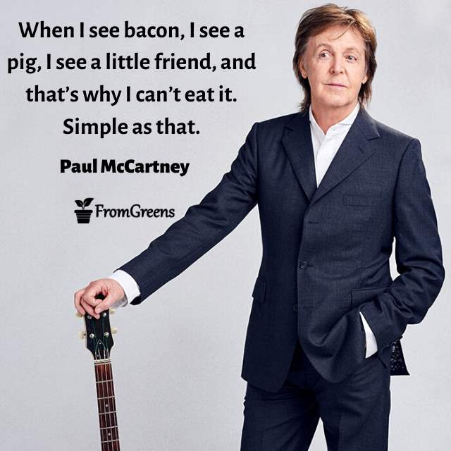Paul mccartney quotes on animal rights