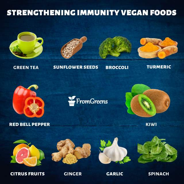 Vegan foods list for boosting immunity - Evidence based