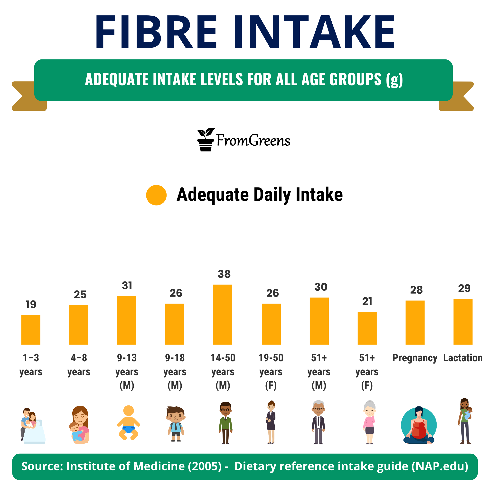 How much fibre is recommended daily
