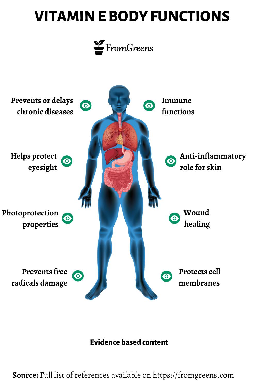 Vitamin E health benefits - Evidence based content